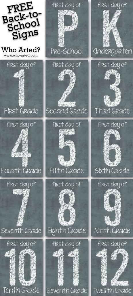 Back To School Signs | 20 Free Printable First Day Of School Signs