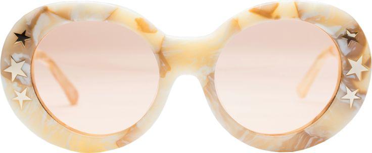 Dakota Sunglasses in Cream Marble | NYLON SHOP