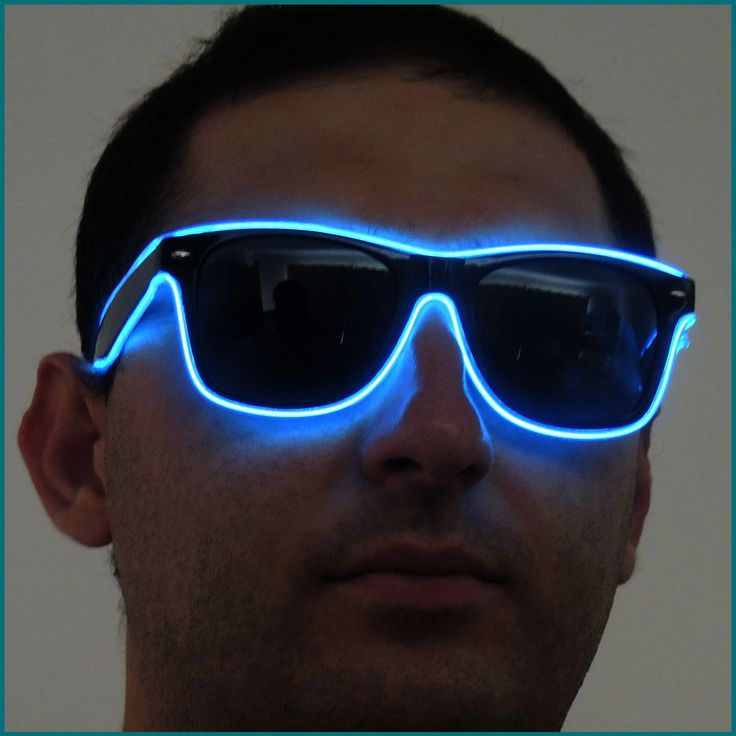 Blue Rave Sun Glasses. Wear them clubbing, to music festivals of just to add some style to an outfit. Also available in colours: Yellow and Pink http://www.glowpaint.com.au/rave-glasses/