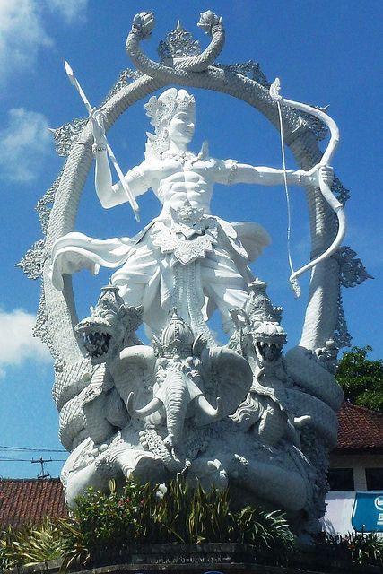 Arjuna statue, Jalan Raya Ubud, Bali