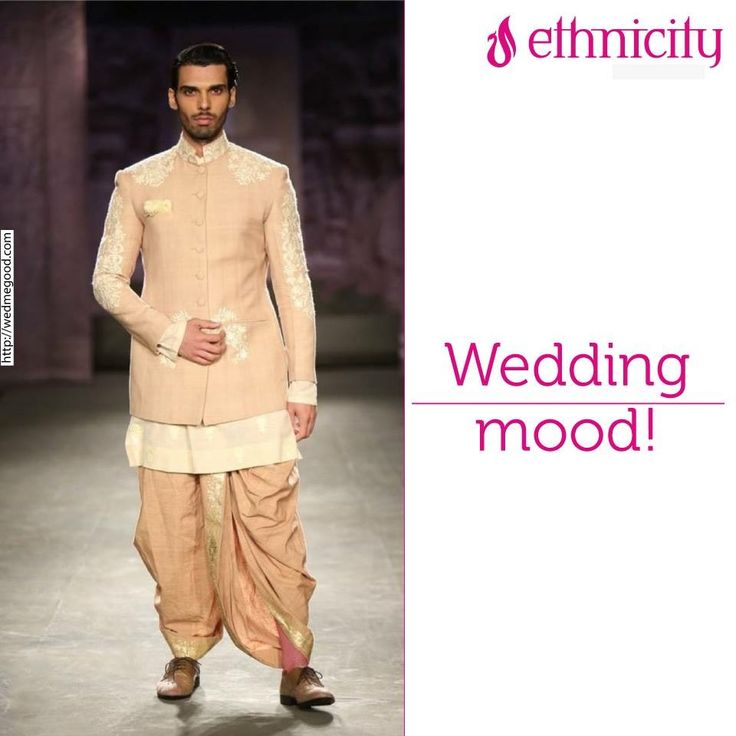Like if you think this pastel Bandhgala with peach dhoti is an outfit you dreamt of for your better half! #fashion #menwear #Ethnicity #menswear #fashion #menswear