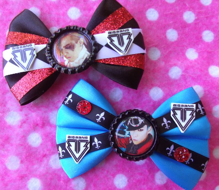 Bigbang GDragon & Top Fantastic Baby KPOP Hair Bows by hobbittownjewelry on Etsy