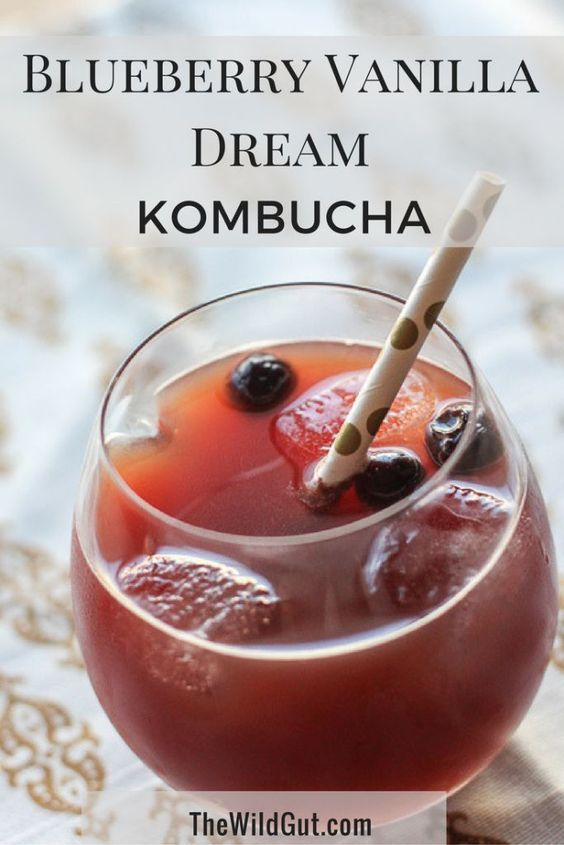 Dreaming of a tasty kombucha? Our Blueberry Vanilla Dream Kombucha recipe results in a delicate and balanced flavor and is just so yummy!
