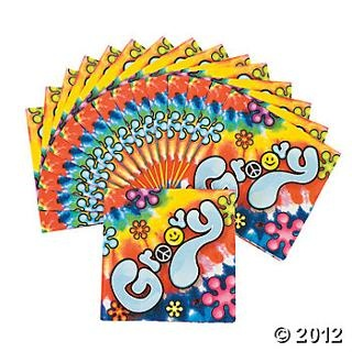 U002760s Groovy Beverage Napkins, Napkins, Tableware, Party Themes U0026 Events    Oriental