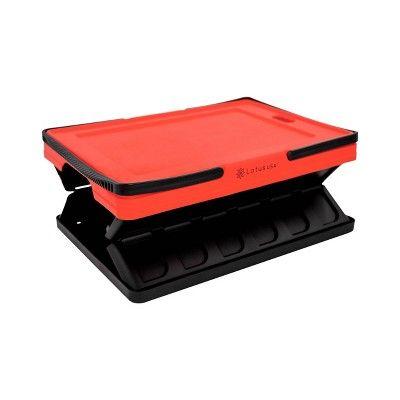 33qt Foldable Hardside Basket Storage Crate Red/Black – Lotus USA