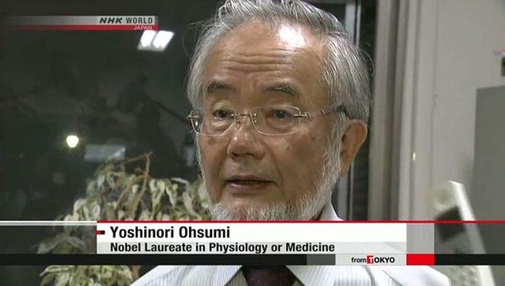 Biólogo japonês ganha Prêmio Nobel. Um biólogo japonês ganhou o Prêmio Nobel de Fisiologia ou Medicina
