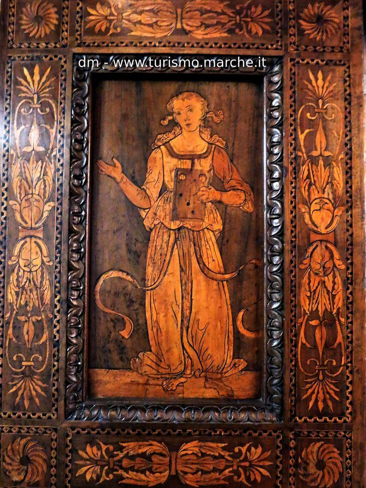 Intarsia paneling of the studiolo of Federico da Montefeltro, National Gallery of the Marche - Urbino, Italy