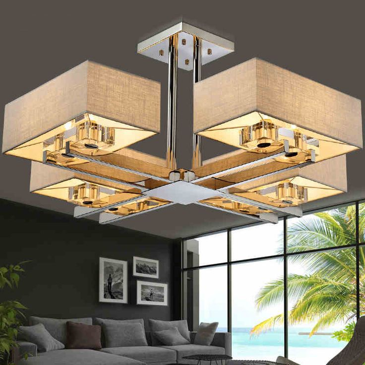 Surface Mounted LED Ceiling Lights Square Ceiling Lamp Lustres De Sala  Modern Ceiling Lights For Living