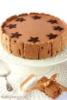 Świąteczny torcik korzenny (bez pieczenia) / Christmas spicy cake (no-bake)