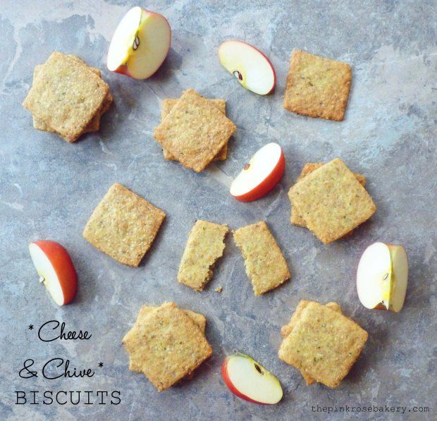 Cheddar and chive savoury biscuits - glutenfree and very moreish!!