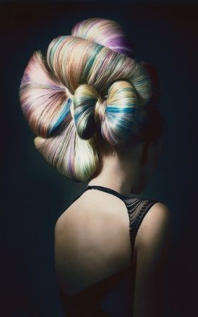 NEDERLAND COIFFURE AWARD - AVANT GARDE 2010 HESTER WERNERT  This is totally fabulous in every way - creative updo, superb blend of magical colours #ukhairdressers love it  Www.ukhairdressers.com