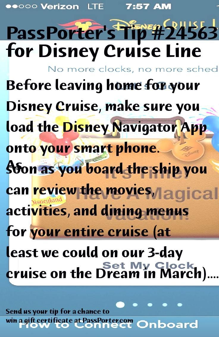 Passporter Tip 24563 Before Leaving Home For Your Disney Cruise