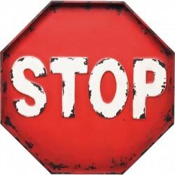 Kare Design :: Dekoracja ścienna STOP (34540)