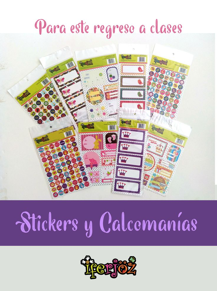Elige el tema que más vaya con tu personalidad, y llena todo de color con nuestros stickers. Encuéntralos en Lumen y en nuestra tienda en línea: www.iferjoz.com