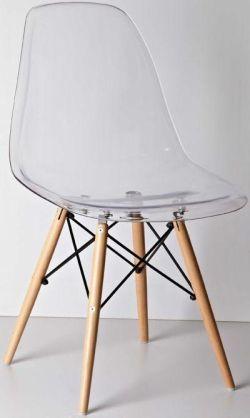 Стул Тауэр вуд прозрачный пластик стулья и кресла пластиковые для кафе бара ресторана дома4ugla.com.ua