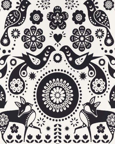 wallpaper from print and pattern