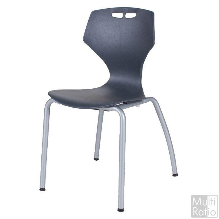 De KKV38 is een trendy moderne 4 poots kuipstoel met een zilvergrijs epoxy frame. De stoel is verkrijgbaar in de kleuren blauw, antraciet en wit. Door de combinatie van heldere kleuren met het zilvergrijze epoxy frame is het een zeer nette stoel geschikt voor bijvoorbeeld kantines of klaslokalen. De stoel heeft een zithoogte van 38 cm.
