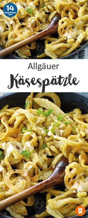 Käsespätzle nach Allgäuer Art | 2 Portionen, 14 SmartPoints/Portion, Weight Watchers, fertig in 25 min.