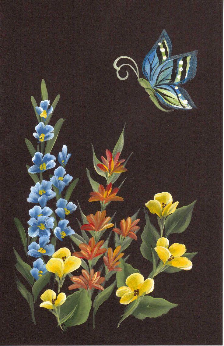 Floral Trio & Butterfly_Lori Shakman