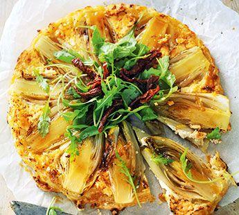 Tarte tartin met witlof, geitenkaas en honing - Recept - Jumbo Supermarkten