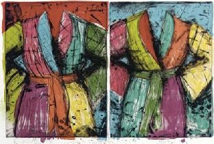 Two Florida Bathrobes - Jim Dine  http://www.printed-editions.com/artwork/jim-dine-two-florida-bathrobes-31092