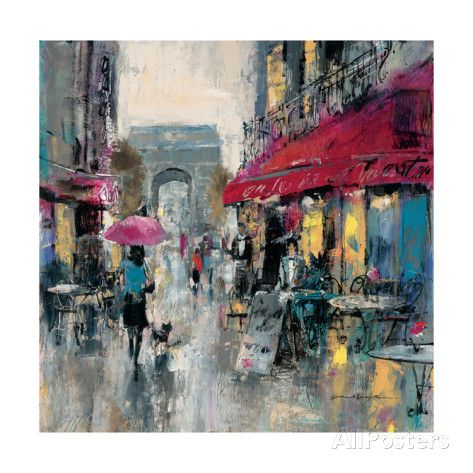 Paris Modern 1 Giclée - Brent Heighton. This painting is in my home. Much more beautiful in than the picture shows.