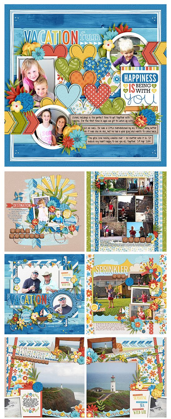#papercrafting #scrapbook #layout by Zoe Pearn Designs