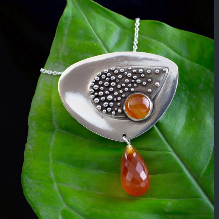 Art Clay Silver, with Carnelian and Agate stones