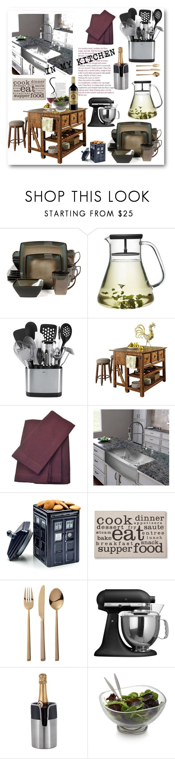 Threshold home decor shop for threshold home decor on polyvore -  In My Kitchen By Purplerose27 On Polyvore Featuring Interior Interiors Interior Design
