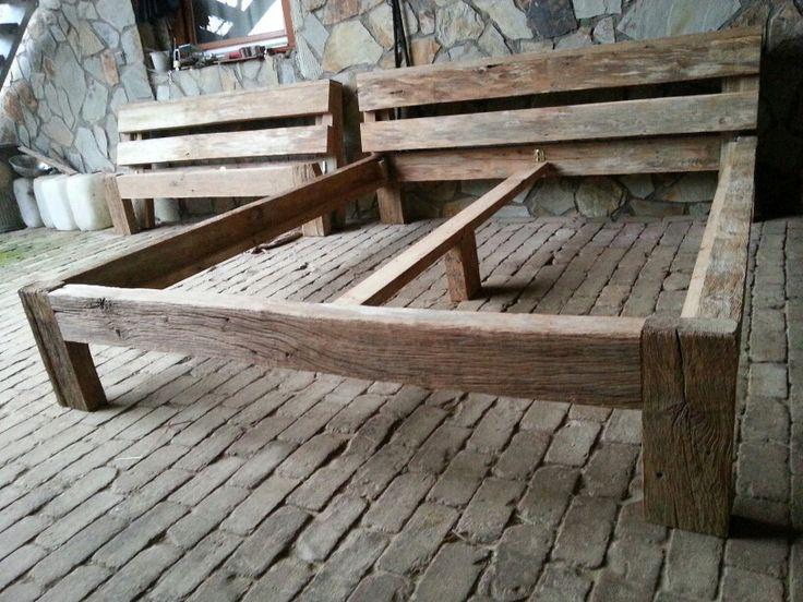 die besten 25 holzbalken bett ideen auf pinterest holzbetten selbstgebautes bett und. Black Bedroom Furniture Sets. Home Design Ideas