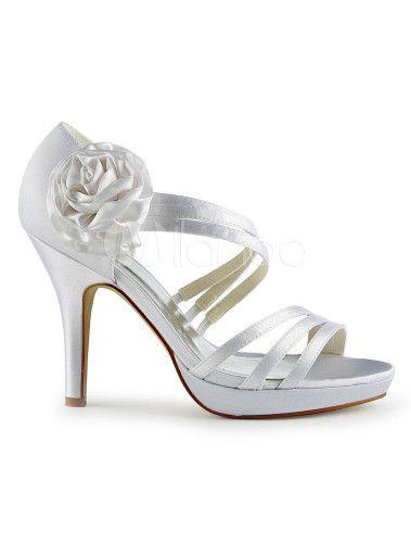 Scarpe da sposa di Design chic antiquariato Open Toe tacco a spillo - Milanoo.com