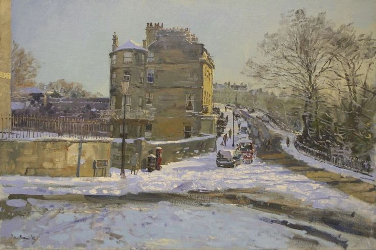 Peter Brown - Morning Sunlight on Crisp Snow, Somerset Place