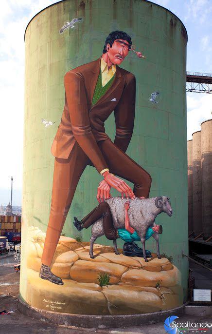La storia della #Sicilia dipinta sui Silos da street artist | INSIDEART