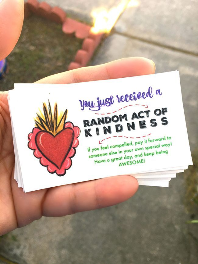 Random Act Of Kindness Cards Random Acts Of Kindness