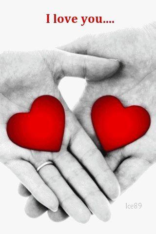 Imagenes de corazones enamorados con movimiento y lindas expresiones de amor