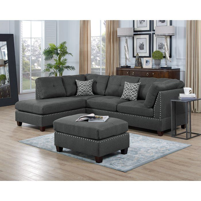 Sunnydale 105 Reversible Sectional With Ottoman Modern Sofa