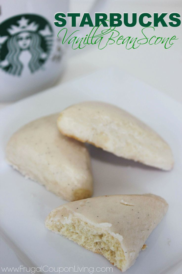 Copycat Starbucks Vanilla Bean Scone - Copycat Starbuck Recipe featuring one of our favorite desserts on Frugal Coupon Living.