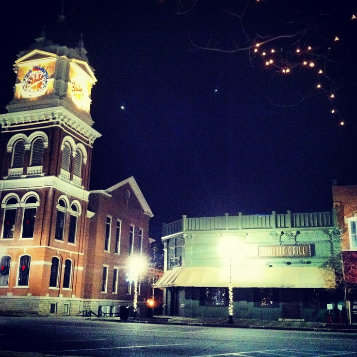 go to Covington, Georgia to eat at The Mystic Grill and take the Mystic Falls Tour of The Vampire Diaries