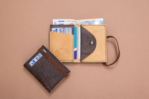 Brown leather wallet Mens wallet Leather wallet Mens by Gazur