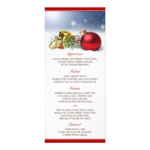 28 best Christmas Menus And Table Number Cards images on Pinterest - free xmas menu templates