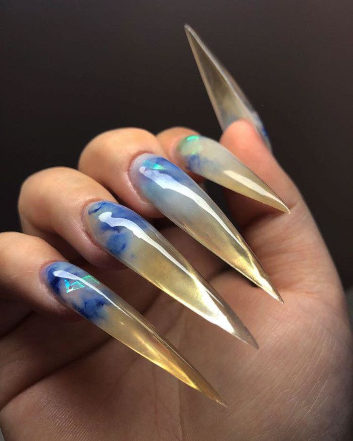 The 90s Inspired Jelly Nails Are Trending On Instagram Jelly Nails Stiletto Nails Stiletto Nail Art