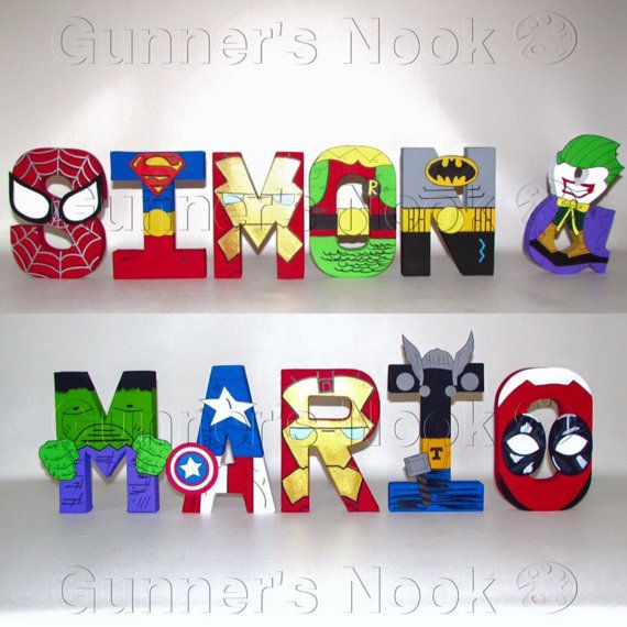 FLASH SALE Superhero Letters Price Per Letter por GunnersNook