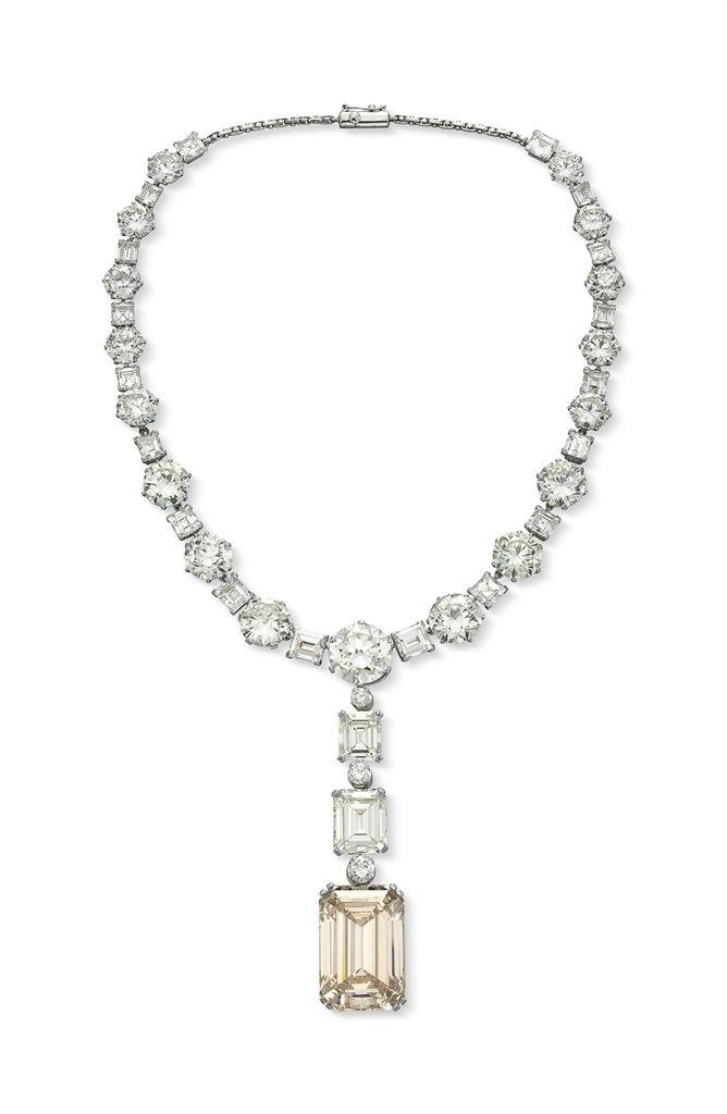A magnificent diamond pendant necklace #christiesjewels