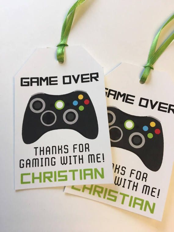 12 video game favor tags  Birthday Party Favor by Onthegoprints