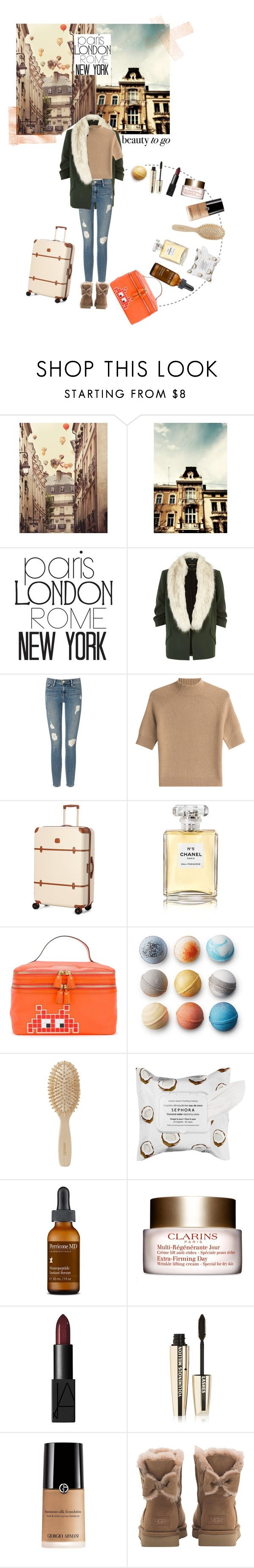 """travelbeauty"" by ozgeelfaba ❤ liked on Polyvore featuring WALL, River Island, Frame, Theory, Bric's, Chanel, Anya Hindmarch, Meraki, Sephora Collection and Perricone MD"