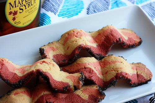 Bacon, Bacon, Bacon! Cookies that look like Bacon that is.