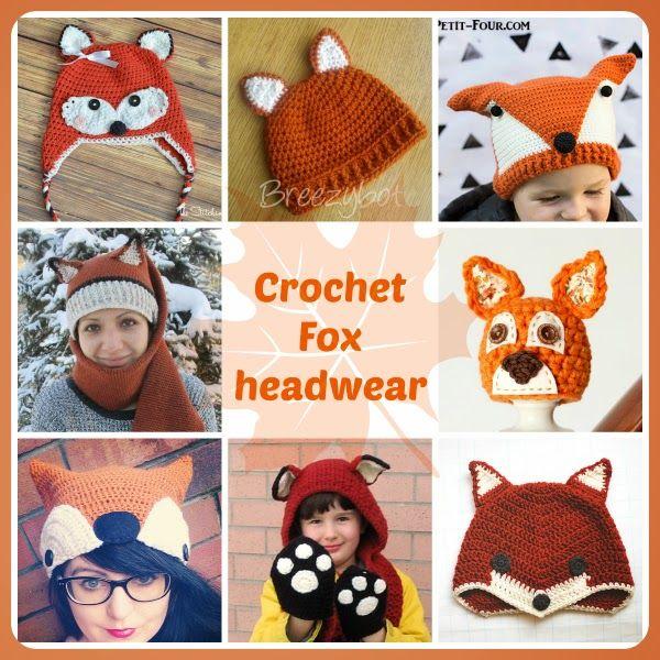 crochet fox hat free patterns