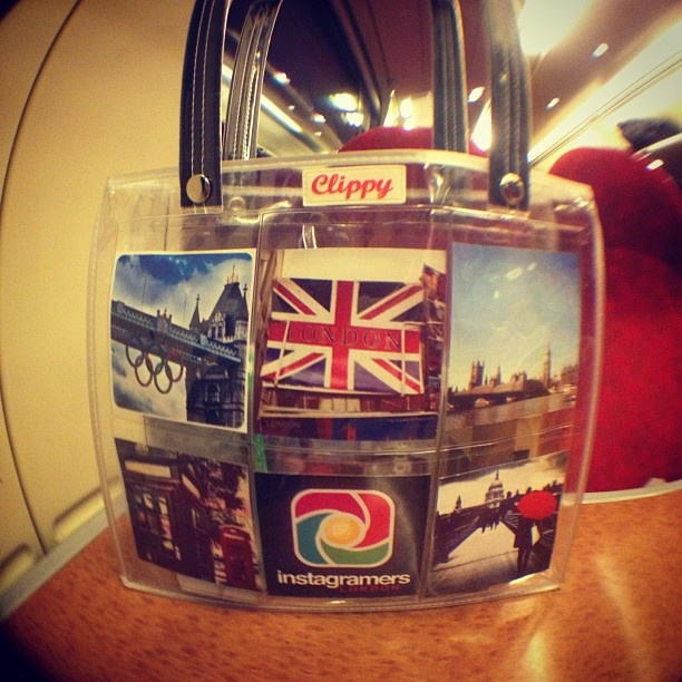 The Instagram bus was traveling round London on Saturday filled with #Clippy bags