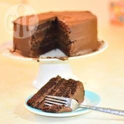 Recipe photo: Chocolate cake with chocolate buttercream