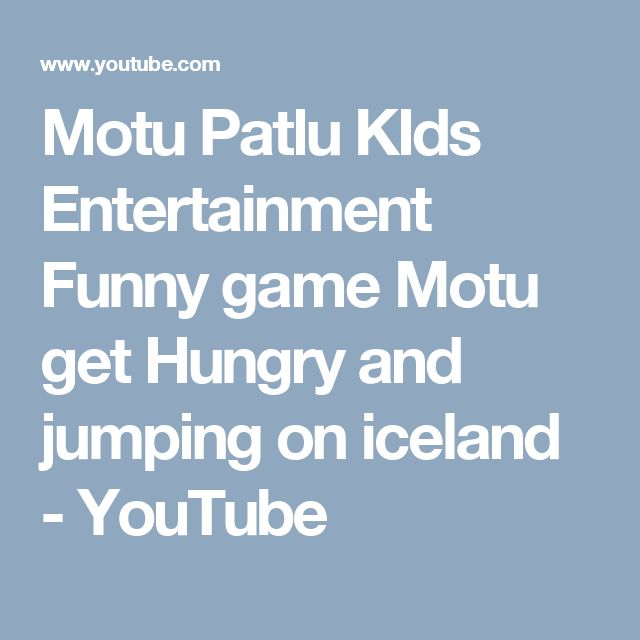 Motu Patlu KIds Entertainment Funny game Motu get Hungry and jumping on iceland - YouTube